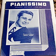 REDUCED 1947 Vintage Sheet Music Pianissimo Perry Como