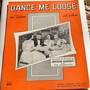 SALE 1951 Vintage Sheet Music Dance Me Loose Arthur Godfrey