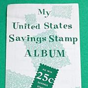 1956 United States Savings Stamp Album