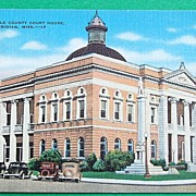 Vintage Postcard Lauderdal County Court House Meridian Mississippi