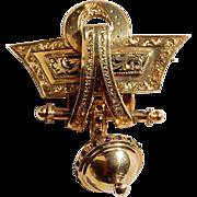 REDUCED Wonderful Antique Victorian 14K Gold Rhodolite Garnet Brooch