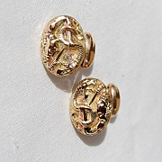 Victorian Gold Filled Serpent Warrior Cuff Links Great Detail