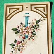 1908 Embossed Floral Birthday Post Card
