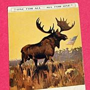 REDUCED World War 1 Solder's Post Card Paris Loyal Order of Moose