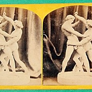 SALE 1867 Jacob Wrestling With An Angel No. 48 Stereoview W. England Photo