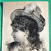 Victorian Excelsior Metal Polish Trade Card Lewis