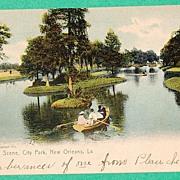1904 Lake Scene, City Park, New Orleans, La. G3659