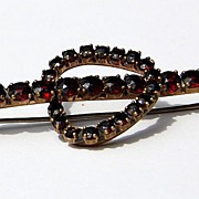REDUCED Unusual Vintage Bohemian Garnet Brooch