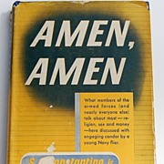 "REDUCED 1944 ""Amen, Amen"" By S. A. Constantino, Jr."