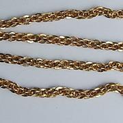 "SALE Vintage 17"" Gold Filled Interlinking Chain/Necklace"