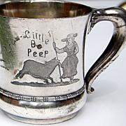 REDUCED Victorian Meriden Little Bo Peep Baby Cup