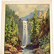 1907 Venal Falls--Yosemite Valley Postcard #225