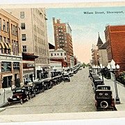 Vintage Postcard Milam Street Shreveport Louisiana