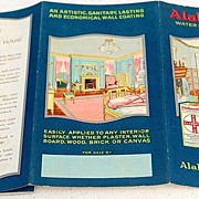 REDUCED Vintage Alabastine Company Water Color For Walls Brochure