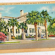 Vintage Postcard Residence Of North Carolina's First Governor