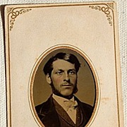 SALE Victorian Antique Tin Type Photo Handsome Man