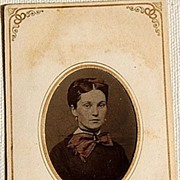 SALE Victorian Tin Type Young Woman