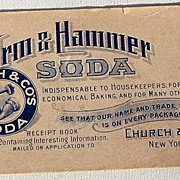 Vintage Arm & Hammer Soda Ink Blotter