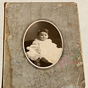 REDUCED Victorian Antique Cabinet Photo Baby