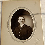 REDUCED Victorian Antique Cabinet Photo Handsome Young Man