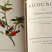 SOLD 1936 Audubon by Constance Rourke - Red Tag Sale Item