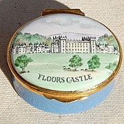 SOLD Vintage English Crummles Hand Decorated Battersea Enamelled Box