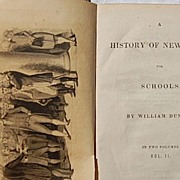 REDUCED 1837 A History Of New York For Schools William Dunlap Vol. I & II