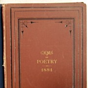 REDUCED 1884 Twelve Month Gems Of Poetry