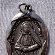 REDUCED Sterling Silver St. Francis Xavier Cabrini Medal