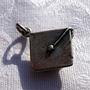 Vintage Sterling Silver Graduation Charm