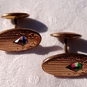 Vintage Art Deco Gold Filled Cuff Links