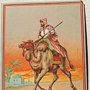 Victorian Scrap Man Riding Camel