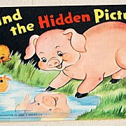 "REDUCED 1953 Children's ""Find The Hidden Pictures"" Book"