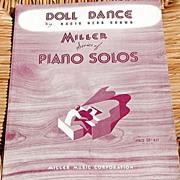 "SALE 1926 Vintage Sheet Music Miller Series ""Doll Dance"" By Nacio Herb Brown"