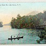 1911 Antique Paradise Bay & Black Mt., Lake George, N. Y. Postcard