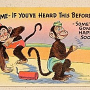 REDUCED Vintage Stop Me If You've Heard This Before Post Card  #701