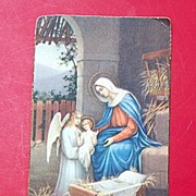 REDUCED 1934 N. G. Basevi Religious Card #788 Christmas Prayer