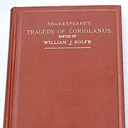SALE 1909 Shakespeare's Tragedy Of Coriolanus