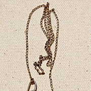SOLD Unusual Gold Filled Pocket Watch Chain Pin