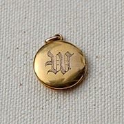 SALE PENDING 10K Gold Double Photo Locket W