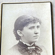Victorian Cabinet Card Young Lady