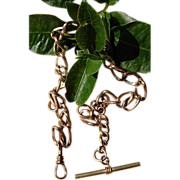 Victorian Large Trace Link Gold Filled Watch Chain