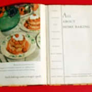 SALE 1935 All About Home Baking Advertising Cookbook From General Foods