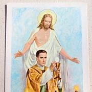 Vintage Passionist Missionaries Easter Card