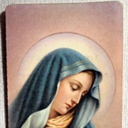 SOLD 1963 Italian Vintage Prayer Card