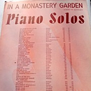 "1915 Vintage Sheet Music ""In A Monastery Garden"" By Albert W. Ketelbey"