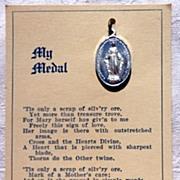 SALE My Medal Vintage Miraculous Medal On Original Card