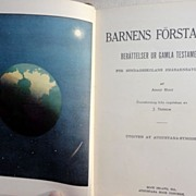 SALE 1922 Barnens Forsta Bok Swedish Bible Stories