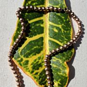 SALE Vintage Gold Filled Bead Necklace