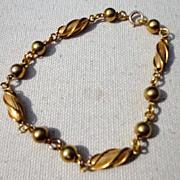 """Vintage Gold Filled Fancy Link 8 1/2"""" Bracelet"""